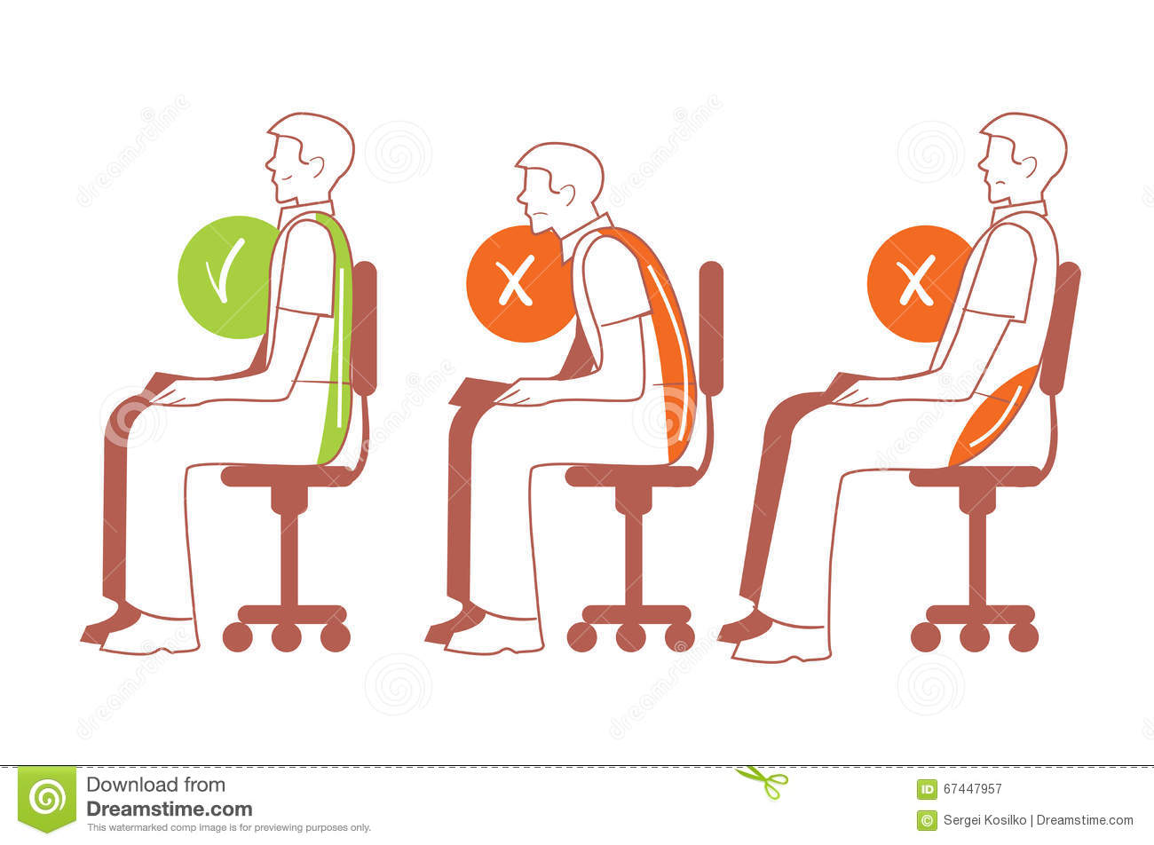 how to fix posture when sitting