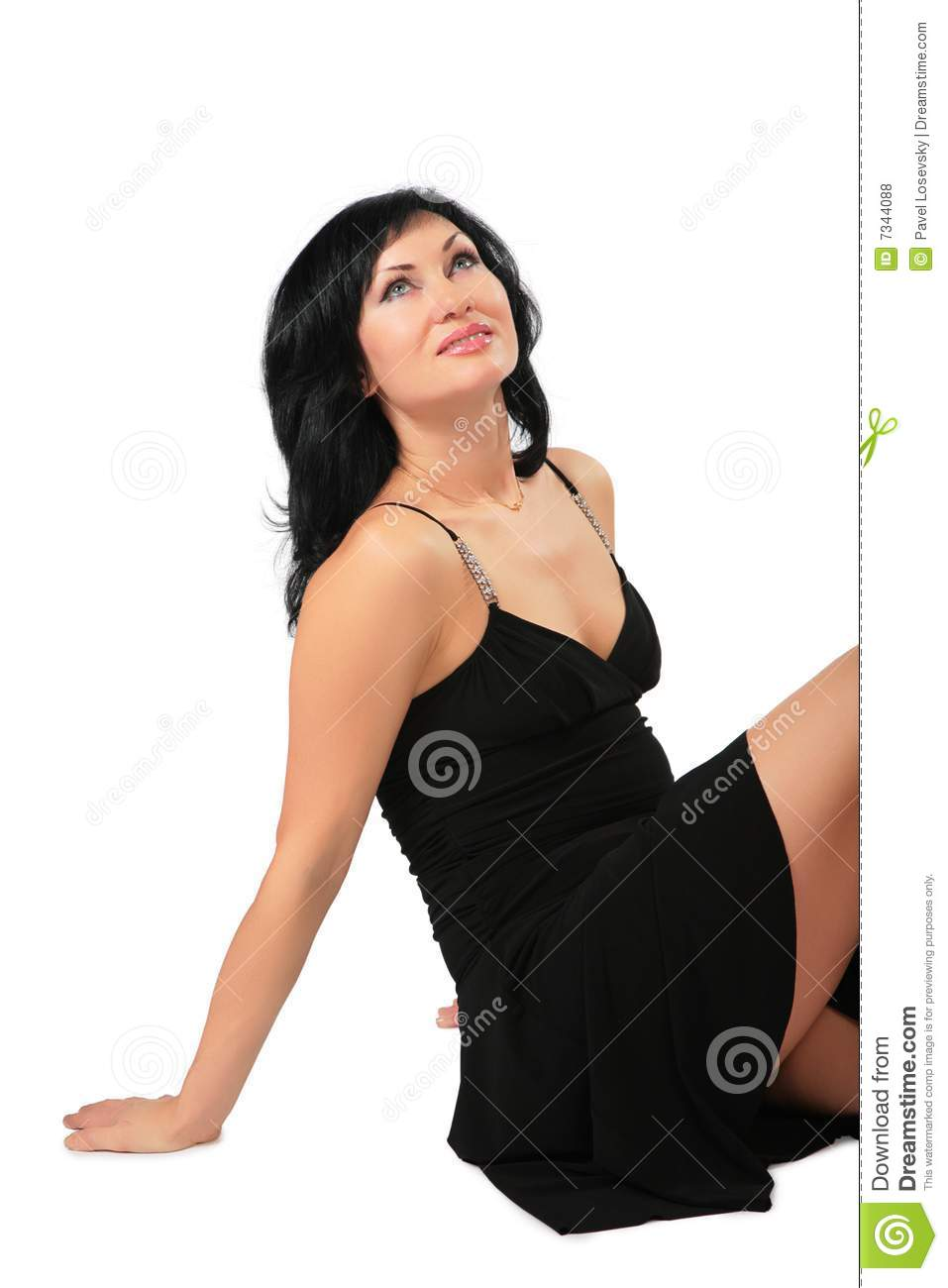 Sitting Pretty Brunette Royalty Free Stock Photos - Image ...