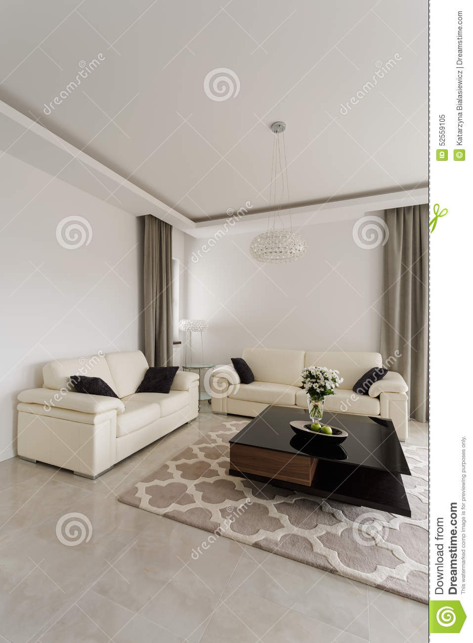 Sitting room in luxury style stock photo image 52559105 - Interior sitting rooms ...