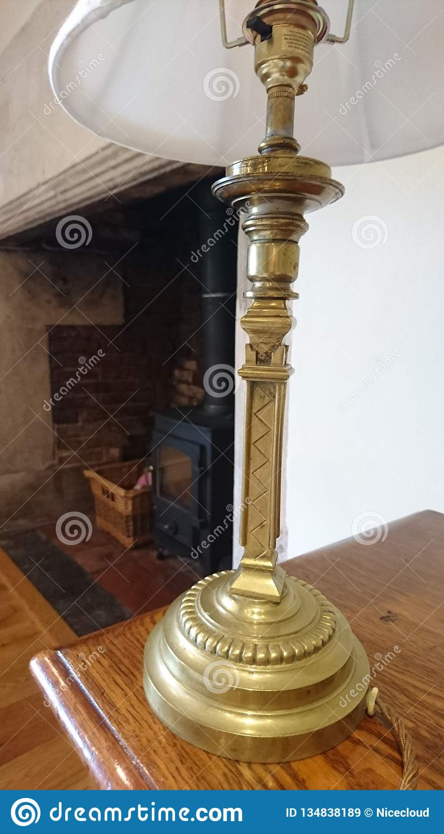 Ornate Antique Brass Table Lamp Close Up Stock Image Image Of Deco Vintage 134838189