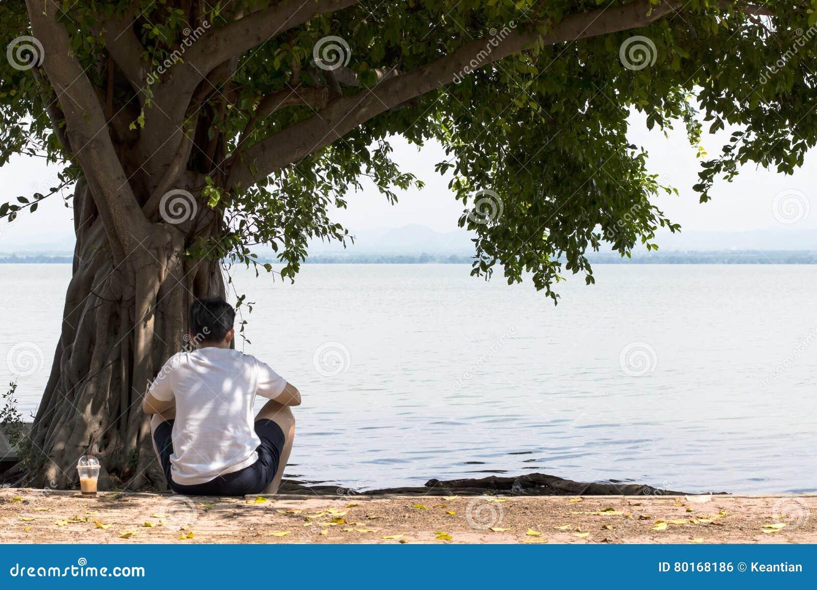 Christian single men in white mountain lake