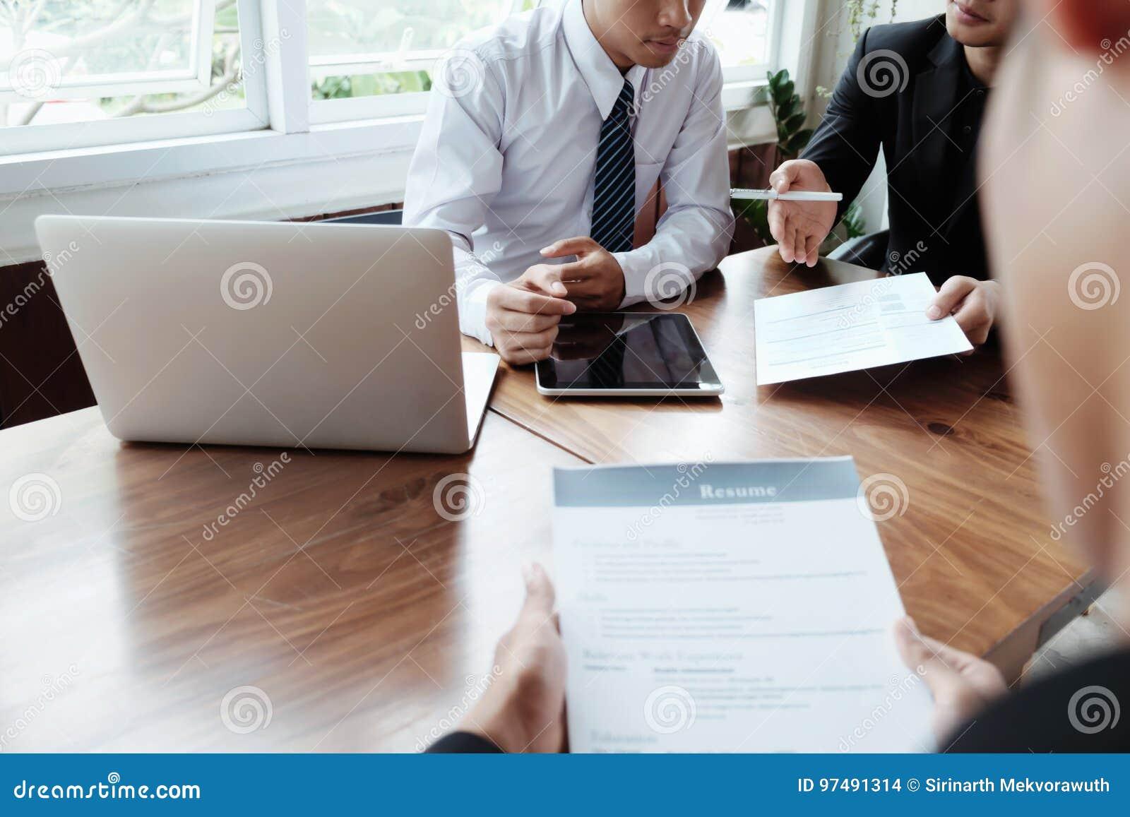 Situazione aziendale, concetto di intervista di lavoro