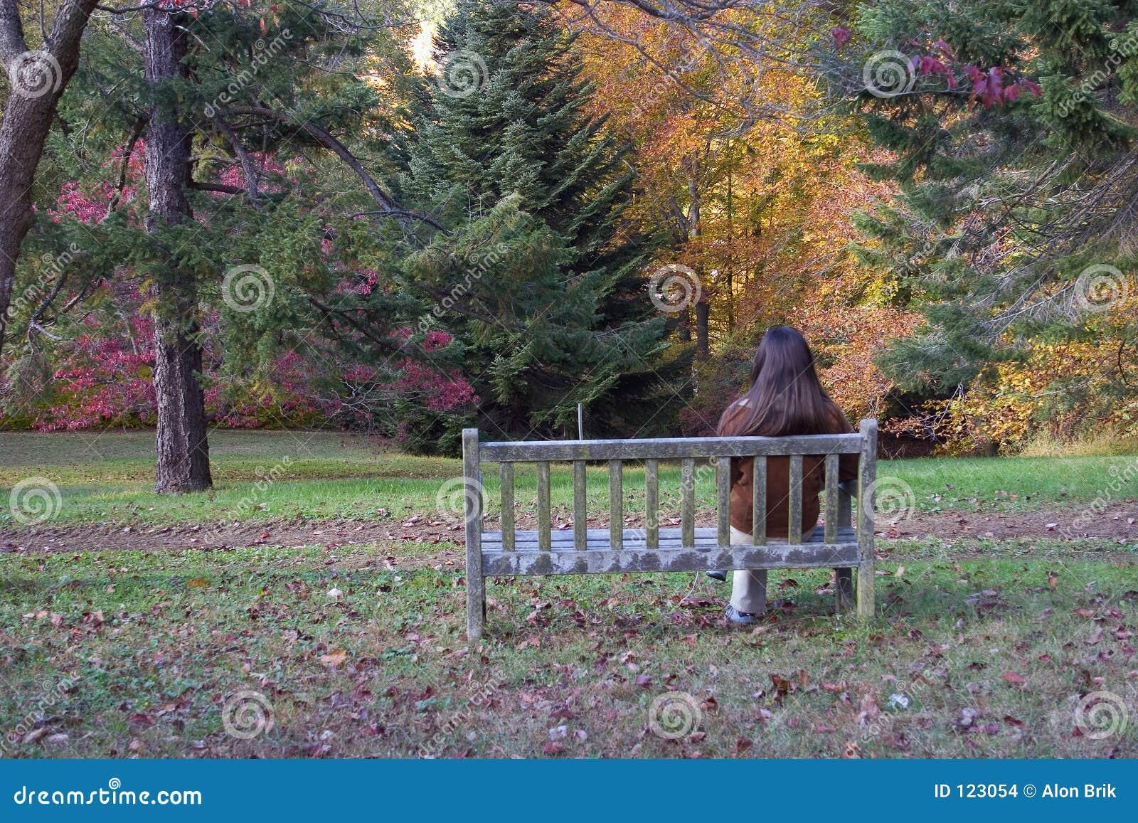 Sitzen auf der Bank