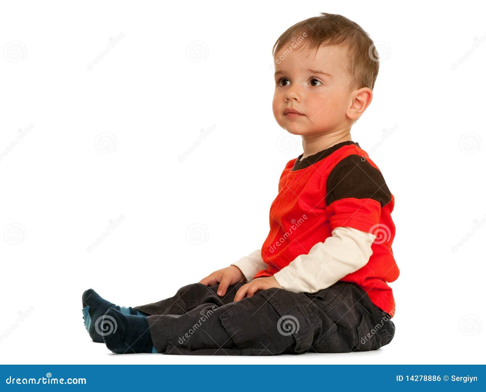 sitzendes kleinkind stockfoto bild von kind portrait 14278886. Black Bedroom Furniture Sets. Home Design Ideas