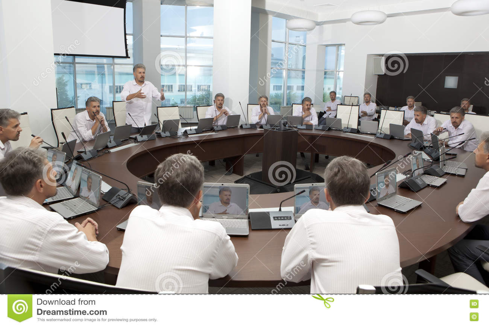 Sitzung und Diskussions-Anweisung Geschäftstreffen, Konferenz