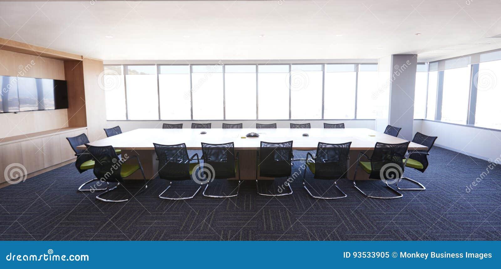 Sitzungssaal Des Modernen Buros Ohne Leute Stockbild Bild Von