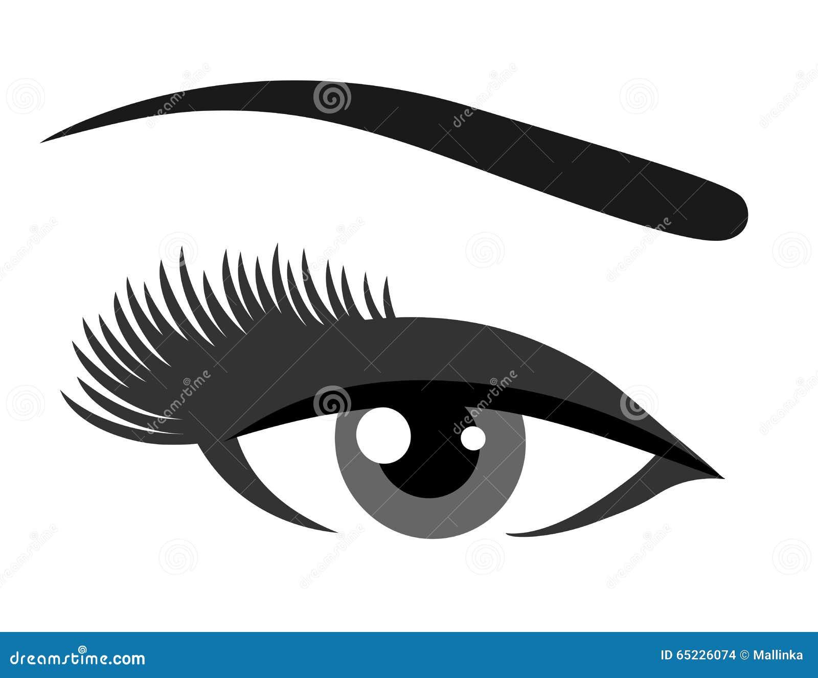 Siwieje oko z rzęsami
