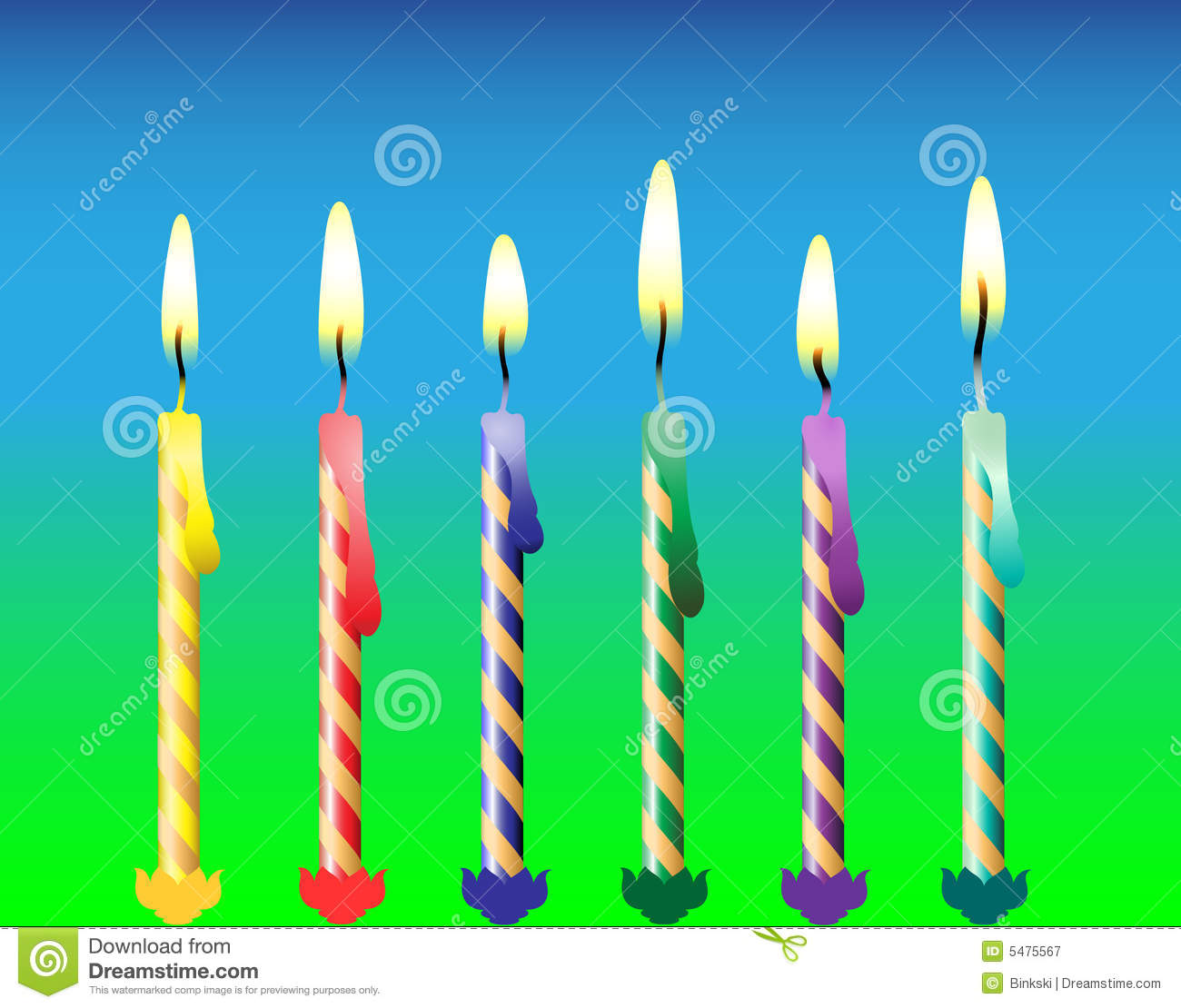 Six Candles Royalty Free Stock Photography Image 5475567