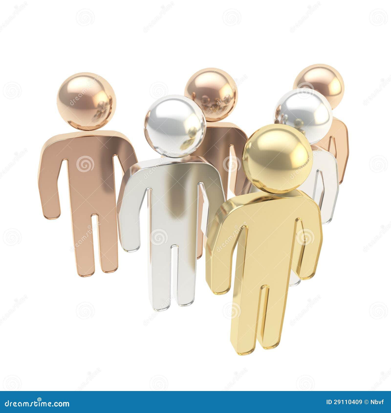 Six chiffres humains symboliques comme métaphore de hiérarchie