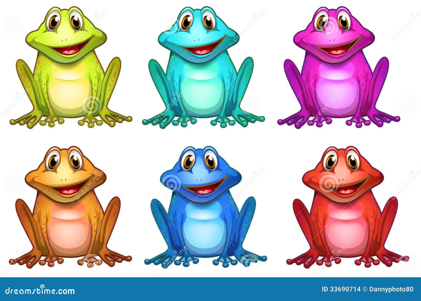 six different colors of frogs stock illustration image rain clip art cute rain clip art free