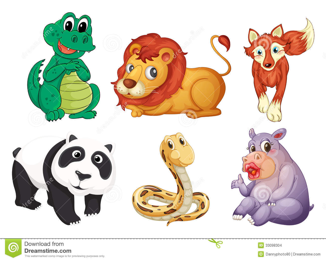 Six Different Kinds Of Animals Stock Vector - Illustration ...