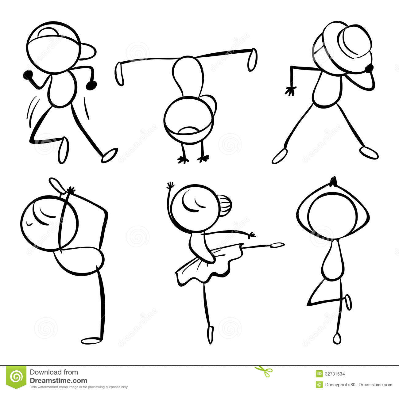 Six Different Kinds Of Dance Moves Stock Images Image
