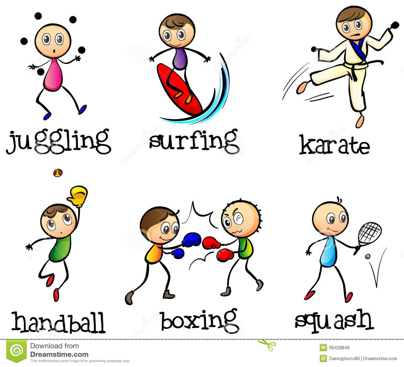Six Different Sports Royalty Free Stock Image - Image: 36428846: www.dreamstime.com/royalty-free-stock-image-six-different-sports...