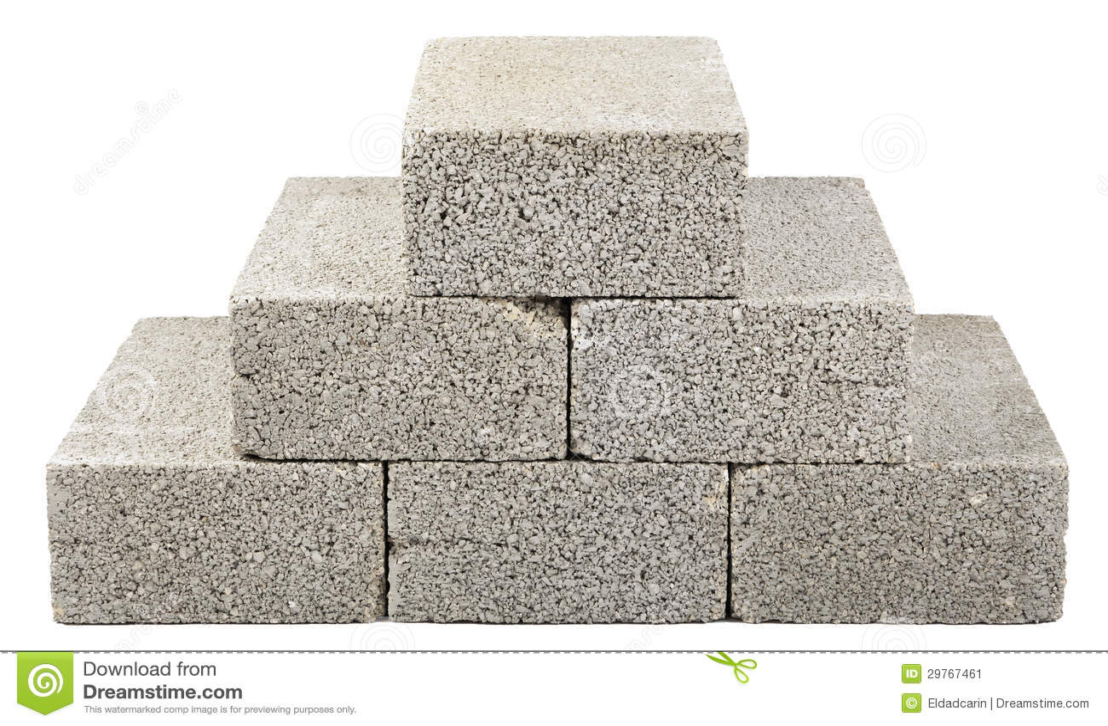 Construction Blocks Pyramid Stock Image - Image of cement