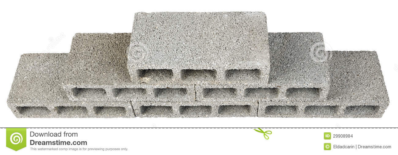 Construction blocks pyramid stock images image 29908984 for Cinder block vs concrete foundation