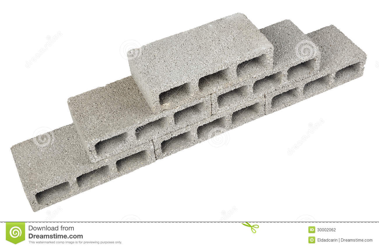 Construction blocks pyramid stock photography image for Cinder block vs concrete foundation