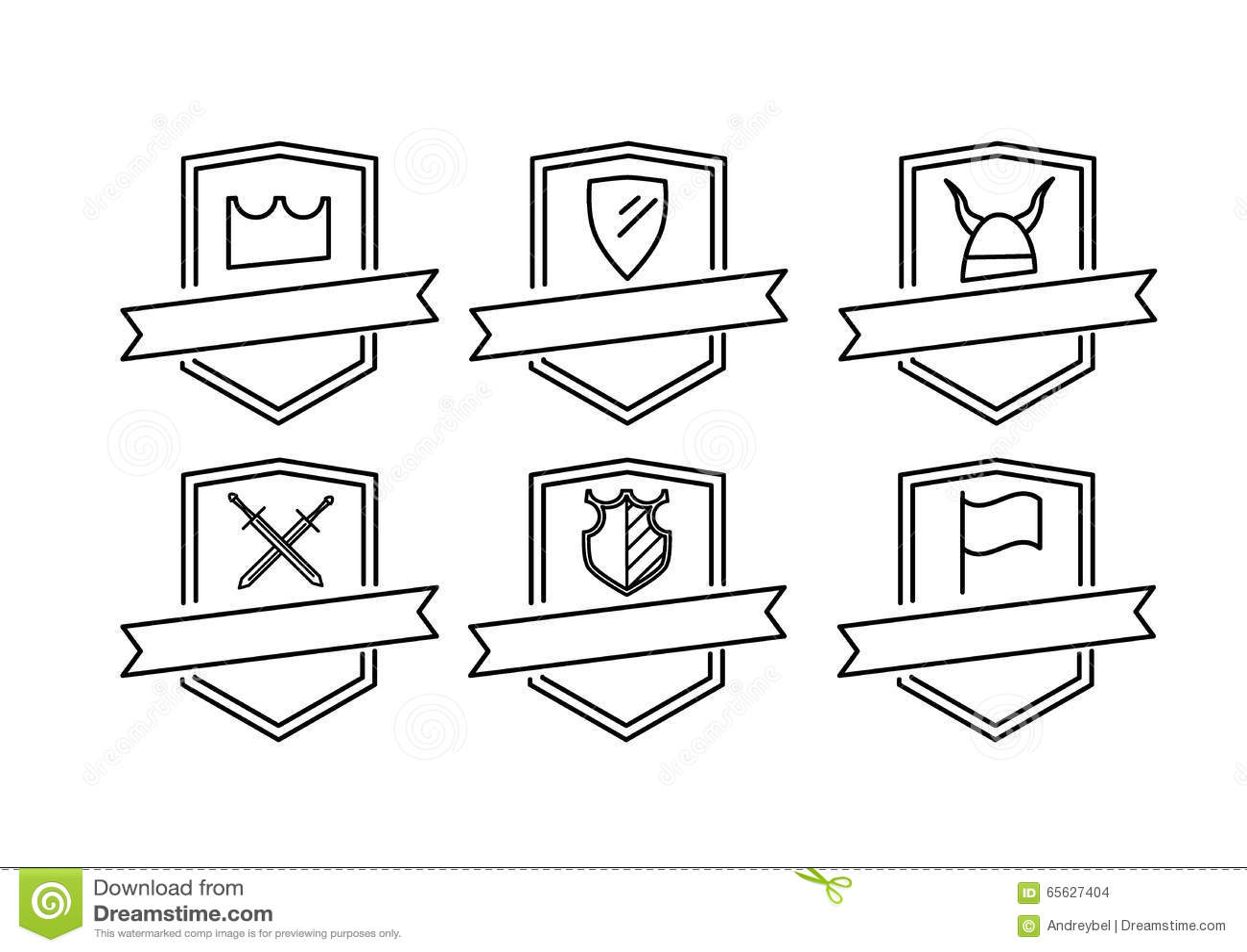 Six logos d icônes