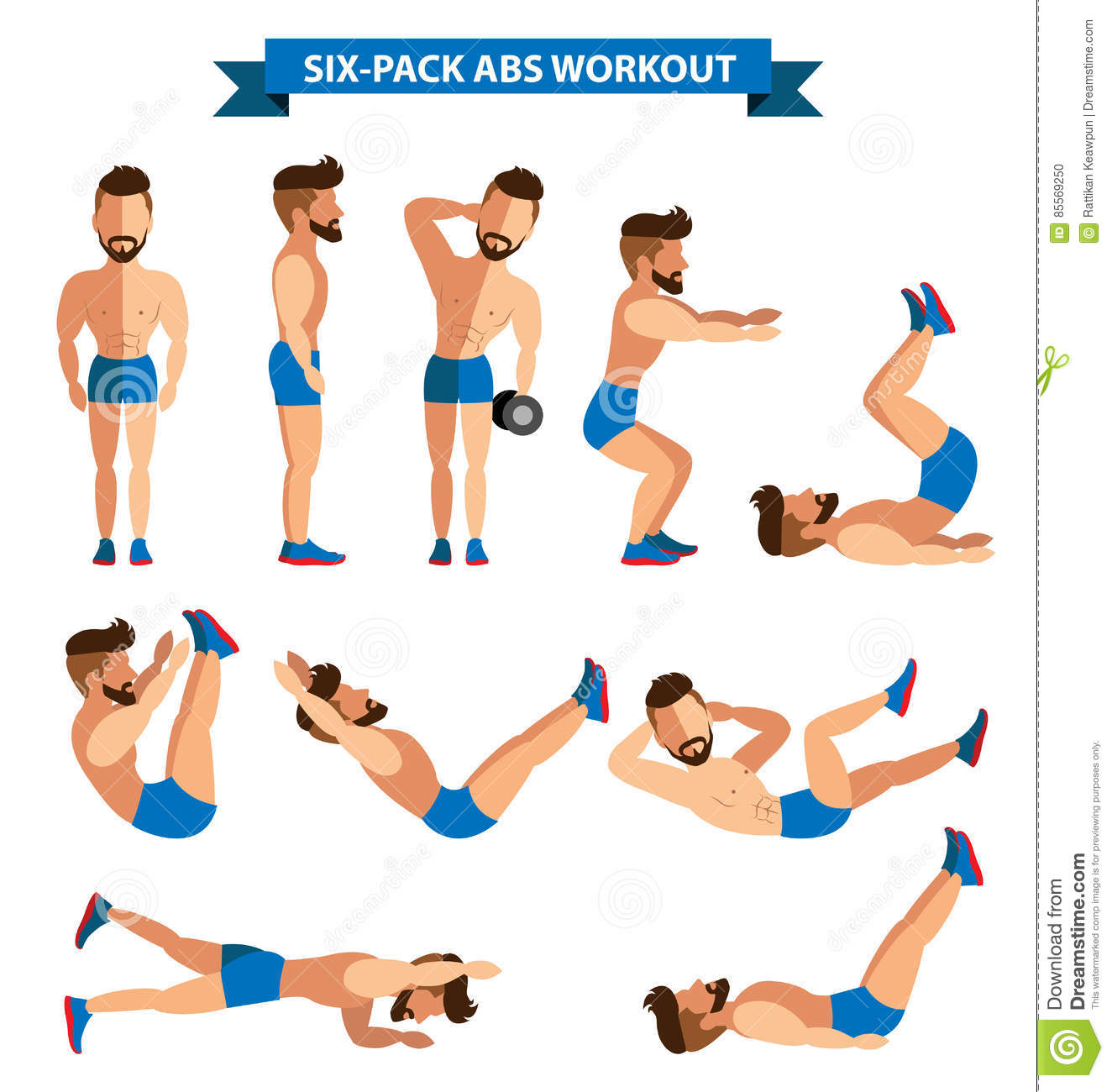Six-Pack Abs Workout for men