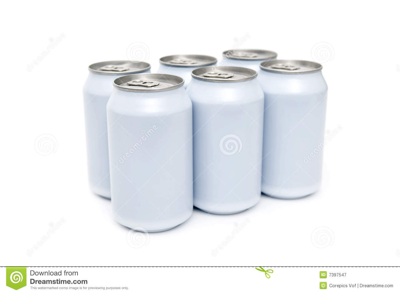 Six Pack Beverage Cans High Key Stock Image Image Of