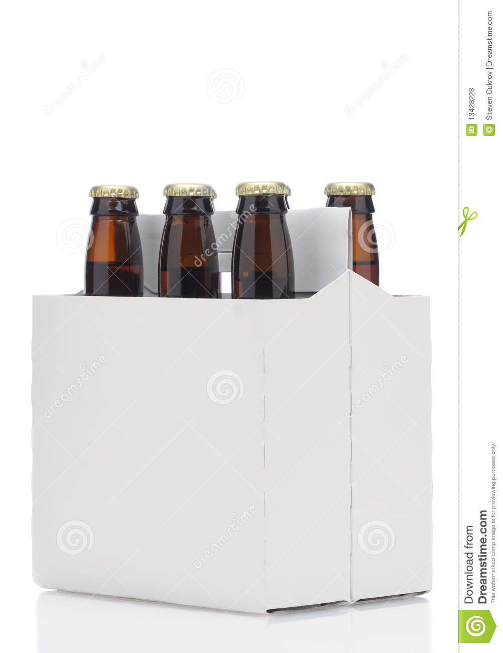 Six pack of brown beer bottles stock photo image 13428228 six pack of brown beer bottles pronofoot35fo Images