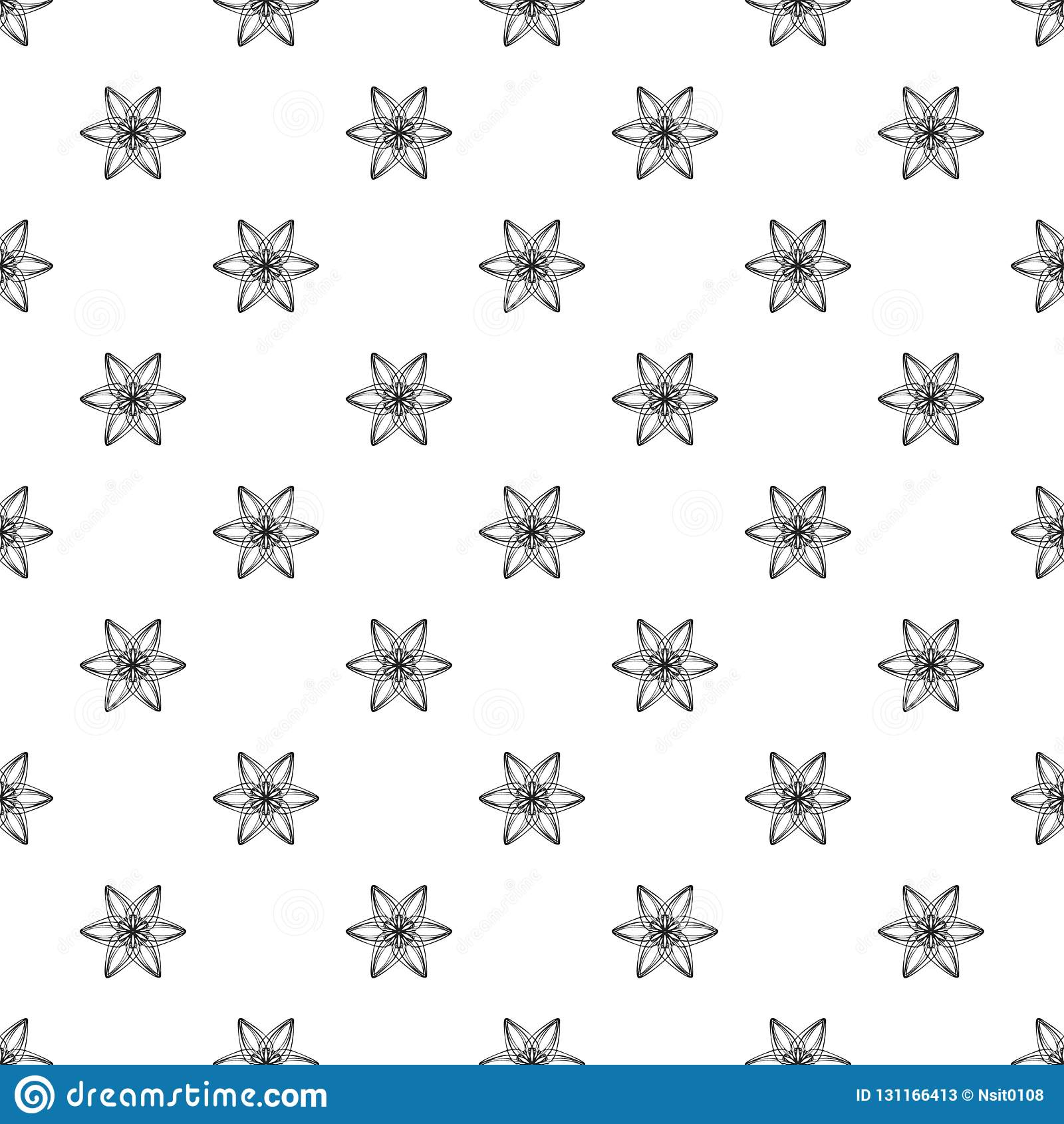 six petal flower pattern seamless stock vector illustration of