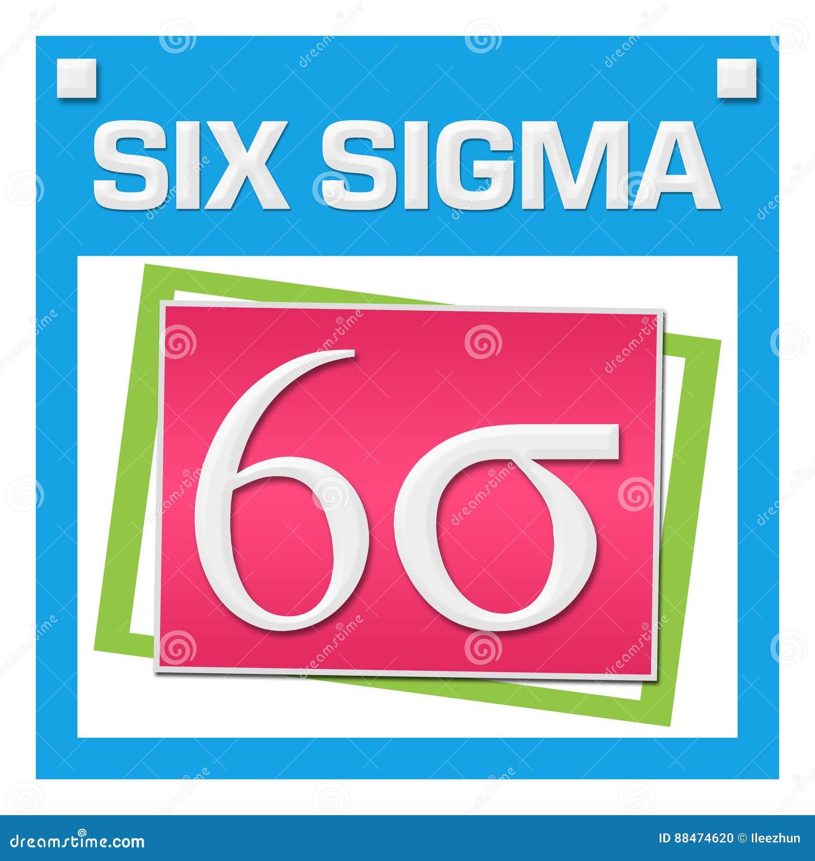 Six Sigma Colorful Squares Inside Stock Illustration Illustration