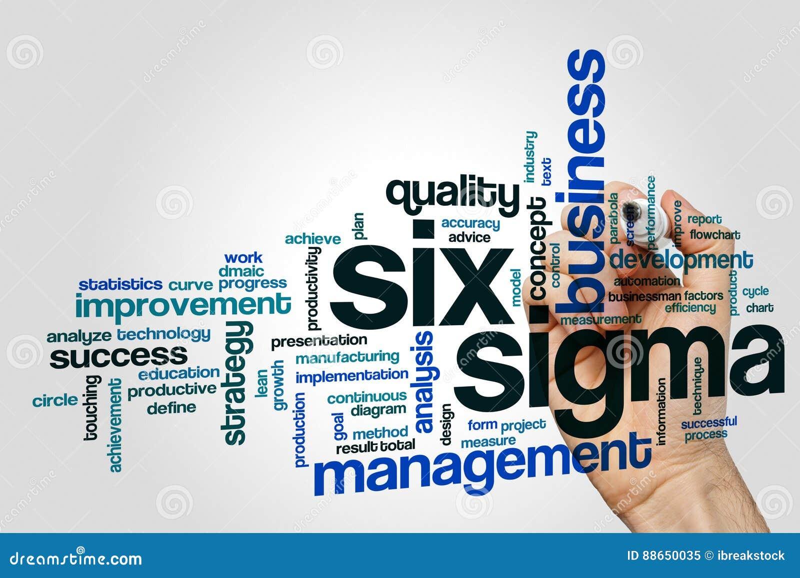Six sigma word cloud stock image. Image of circle ...