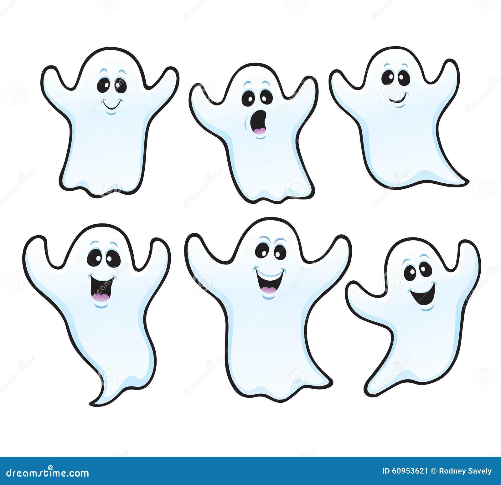six spooky halloween ghosts stock photo image 60953621 halloween ghost clipart borders halloween ghost clipart free