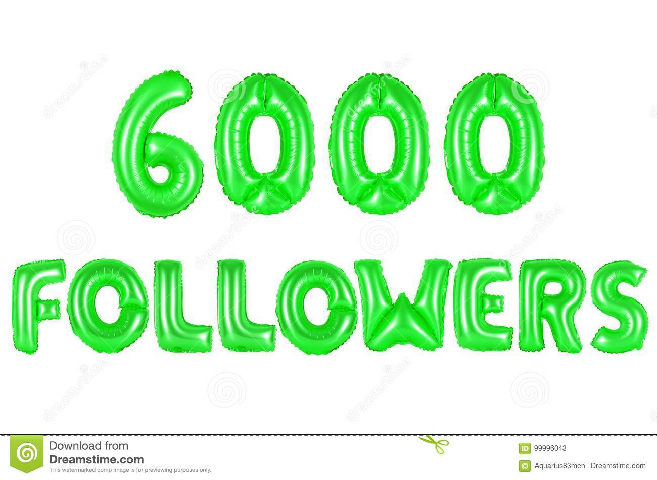Six Thousand Followers, Green Color Stock Image - Image of followers ...
