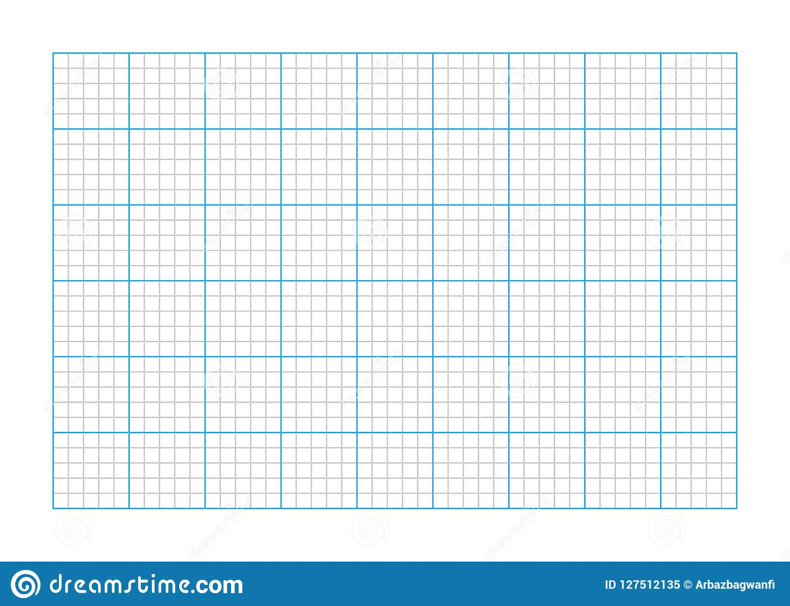 A9 Size Graph Paper Stock Vector Illustration Of Abstract 127512135