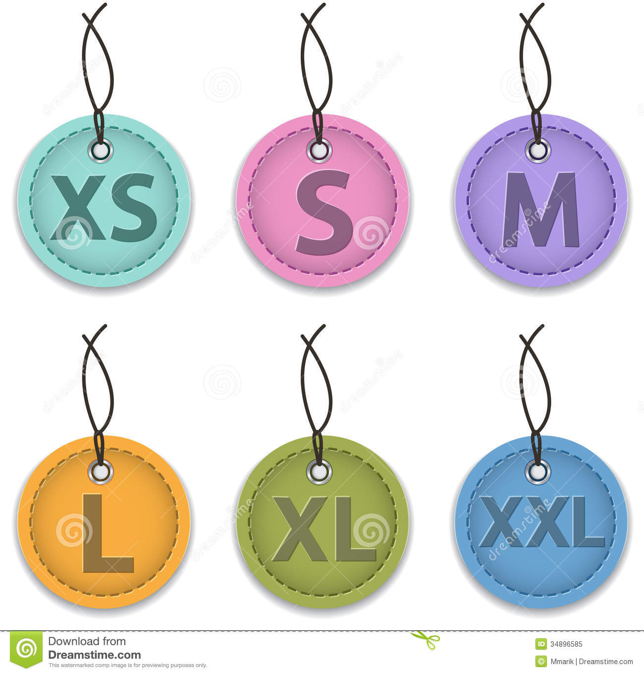 Size Labels Royalty Free Stock Photo Image 34896585