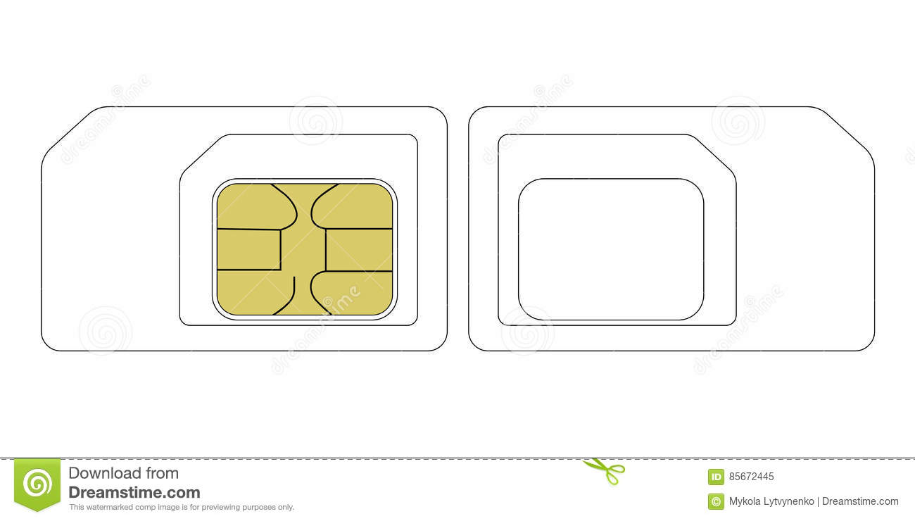 micro sim card template letter size pdf