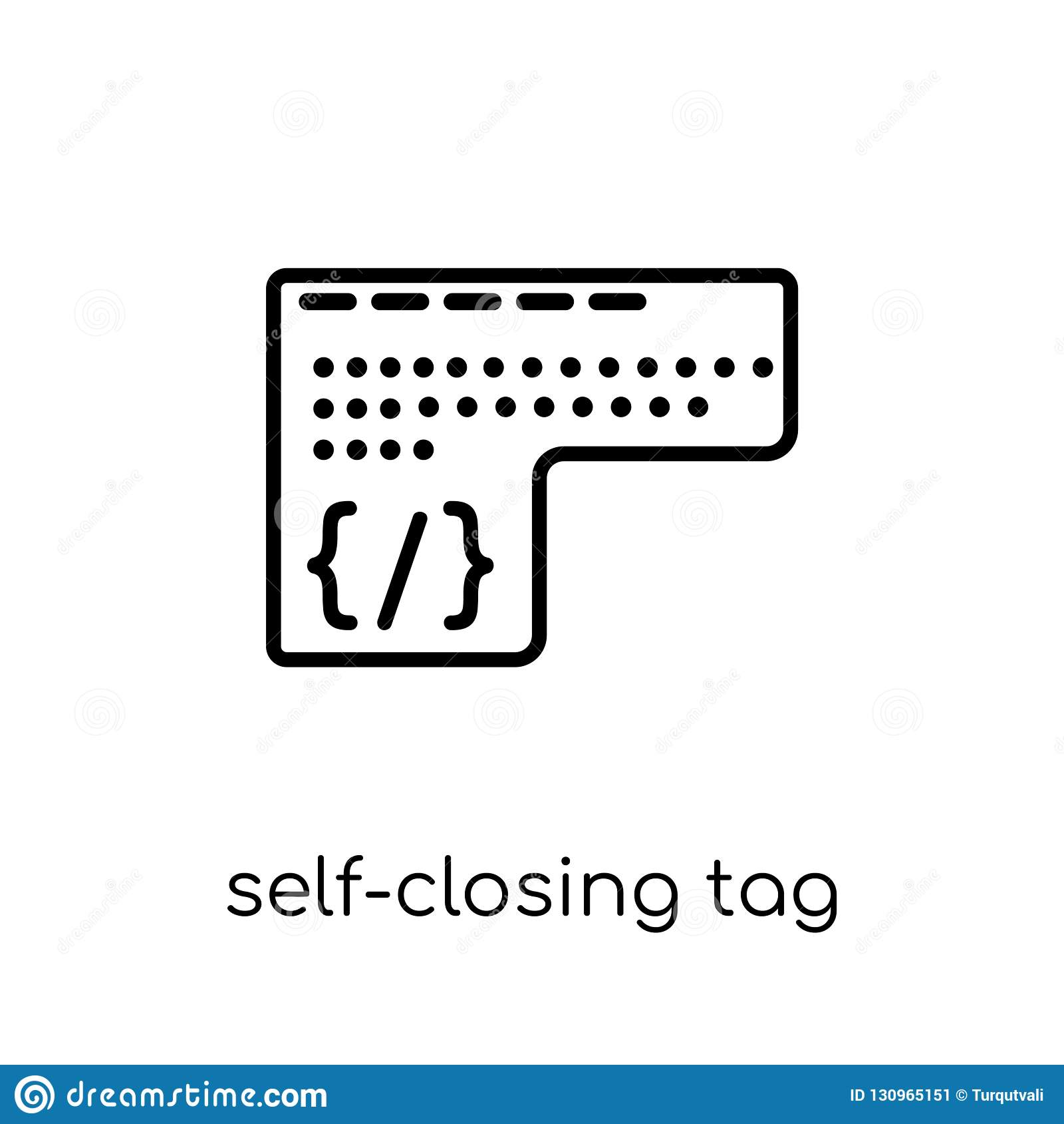 Själv-bokslut etikettssymbol Moderiktiga moderna plana linjära vektorSjälv-clo