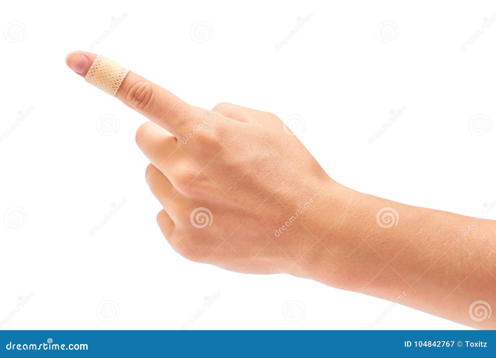 Självhäftande murbruk i handen som isoleras på vit bakgrund