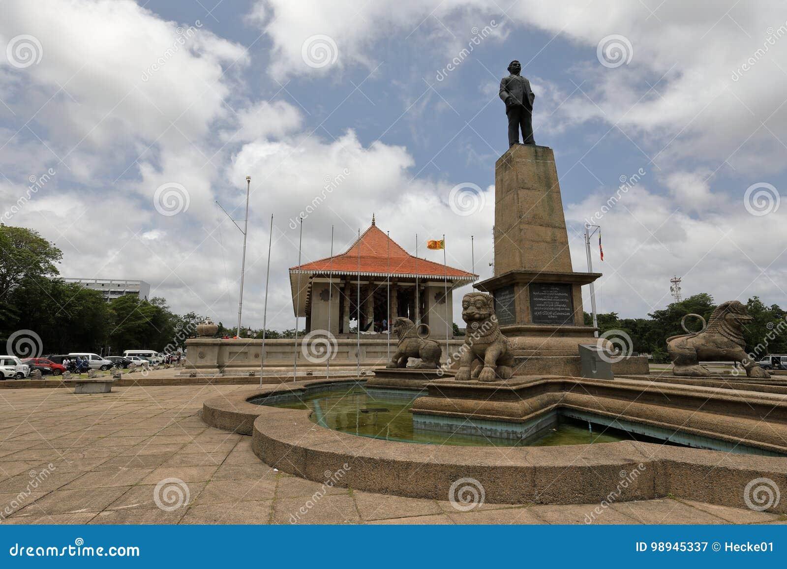Självständighet Hall av Colombo i Sri Lanka