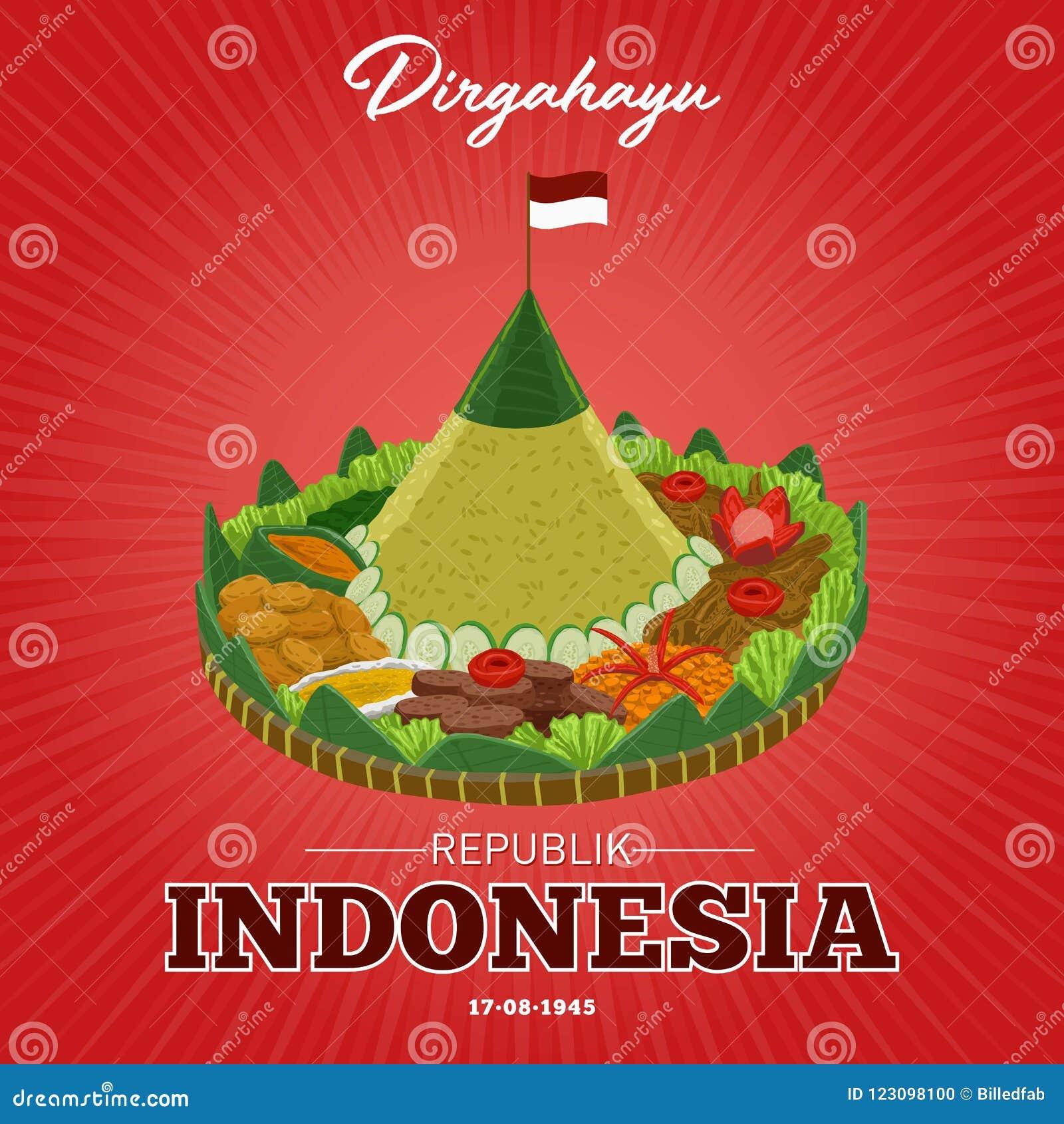 Självständighetsdagen av Republiken Indonesien på 17th Augusti