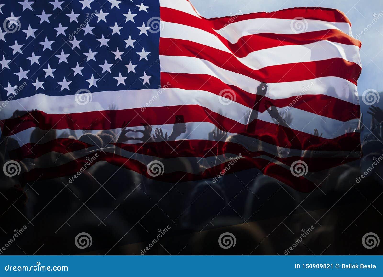 Självständighetsdagen 4th av det Juli begreppet