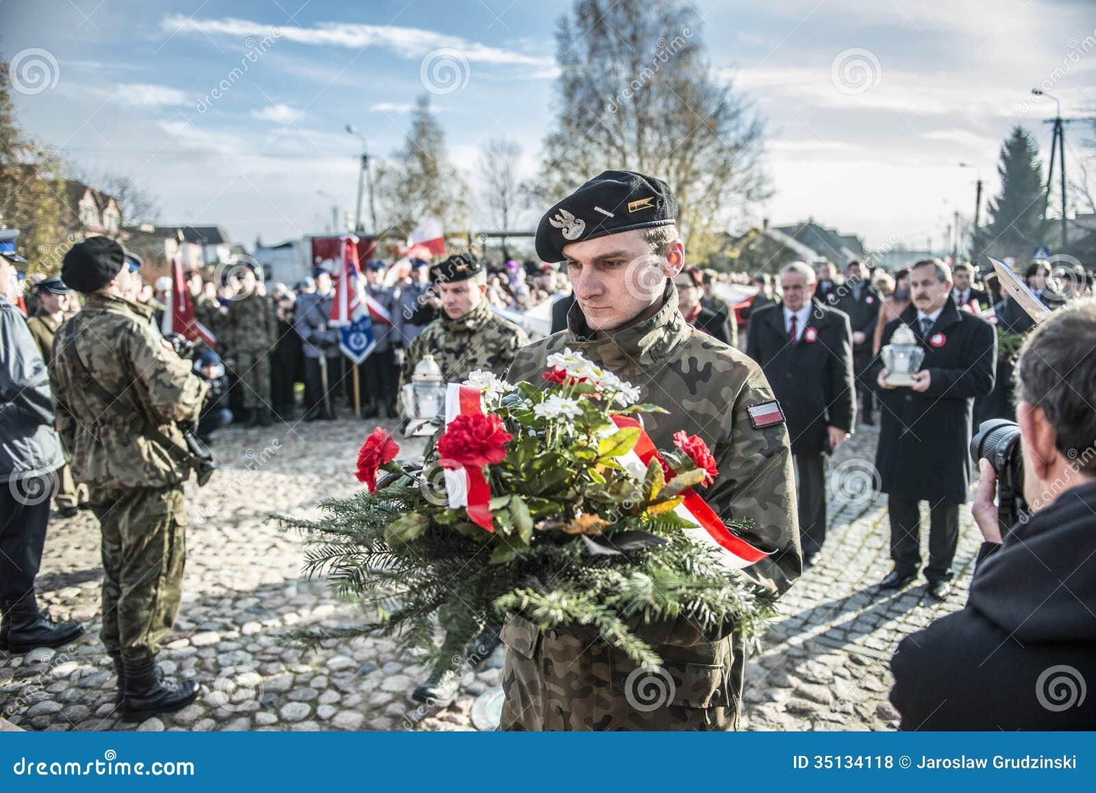 Självständighetsdagenberömmar i Polen