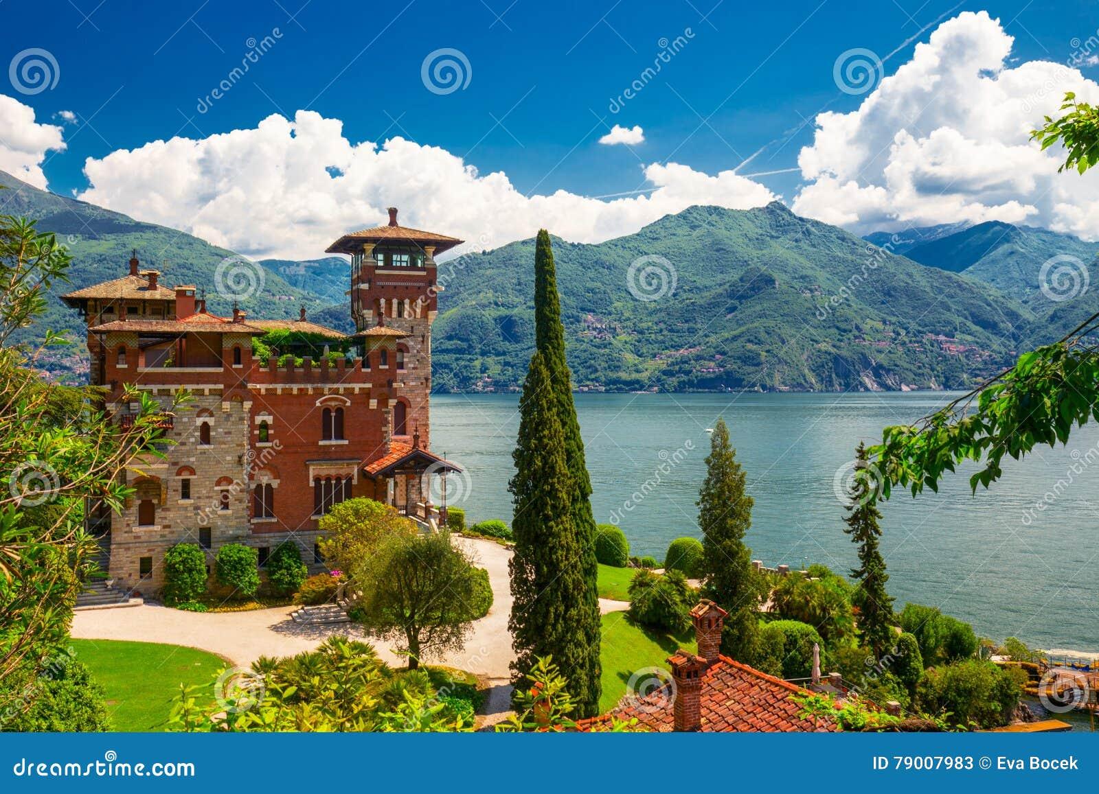 Sjö Como, Italien, Europa Villan användes för filmplats i film