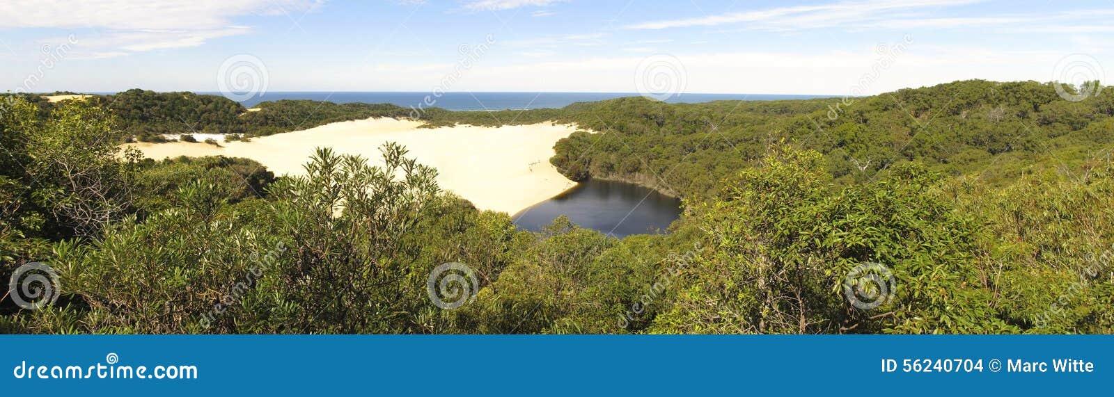 Sjö Wabby, Fraser Island, Queensland, Australien