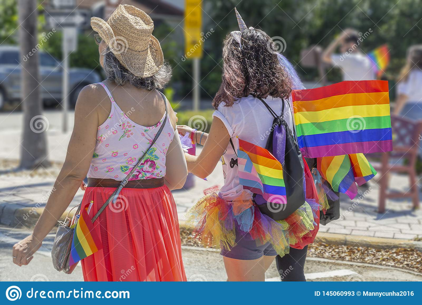 Sjövärde, Florida, USA mars 31, 2019 för, Palm Beach Pride Parade