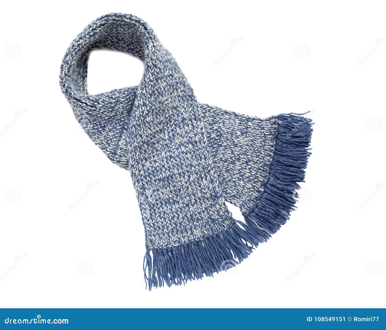Sjaal gebreide handwork Kleurrijke wollen sjaal