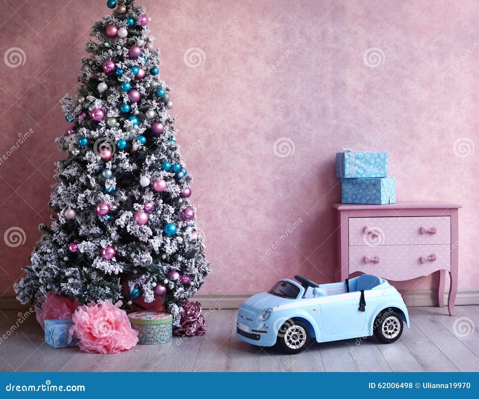 Sjofele Kerstmisdecoratie van de kuiken retro ruimte