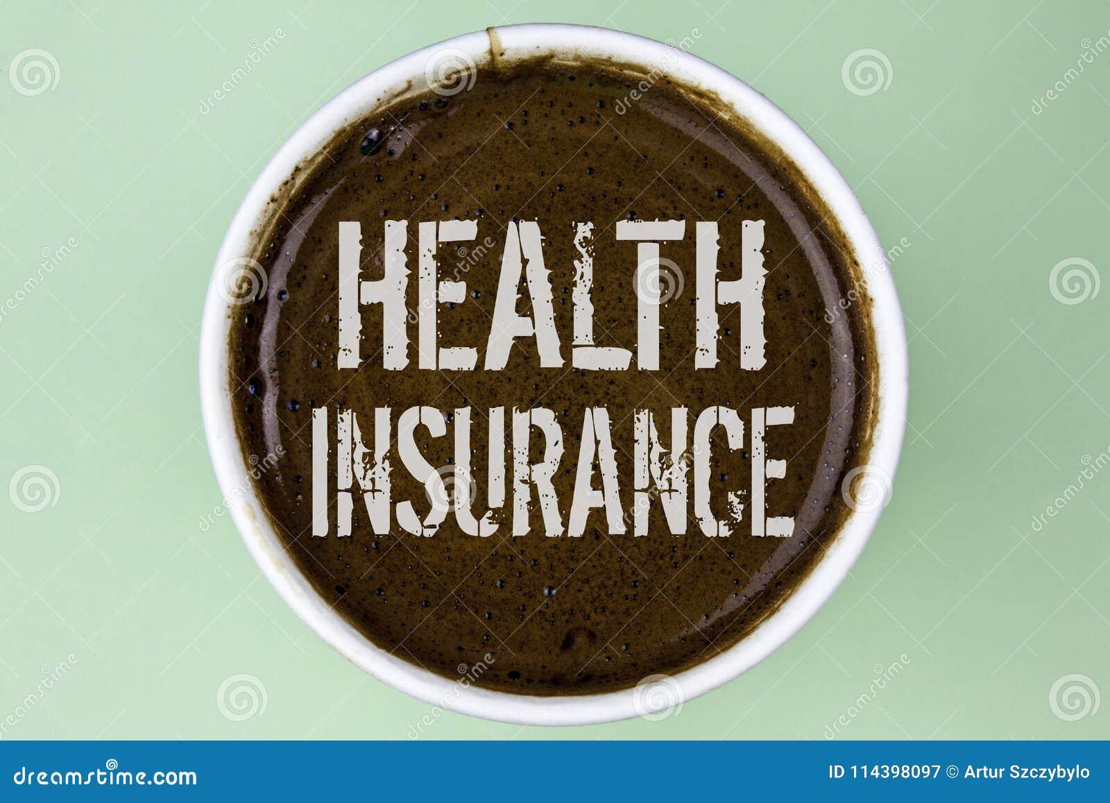 Sjukförsäkring för ordhandstiltext Affärsidé för för informationstäckning om sjukförsäkring som familjeförsörjaren för sjukvård ä