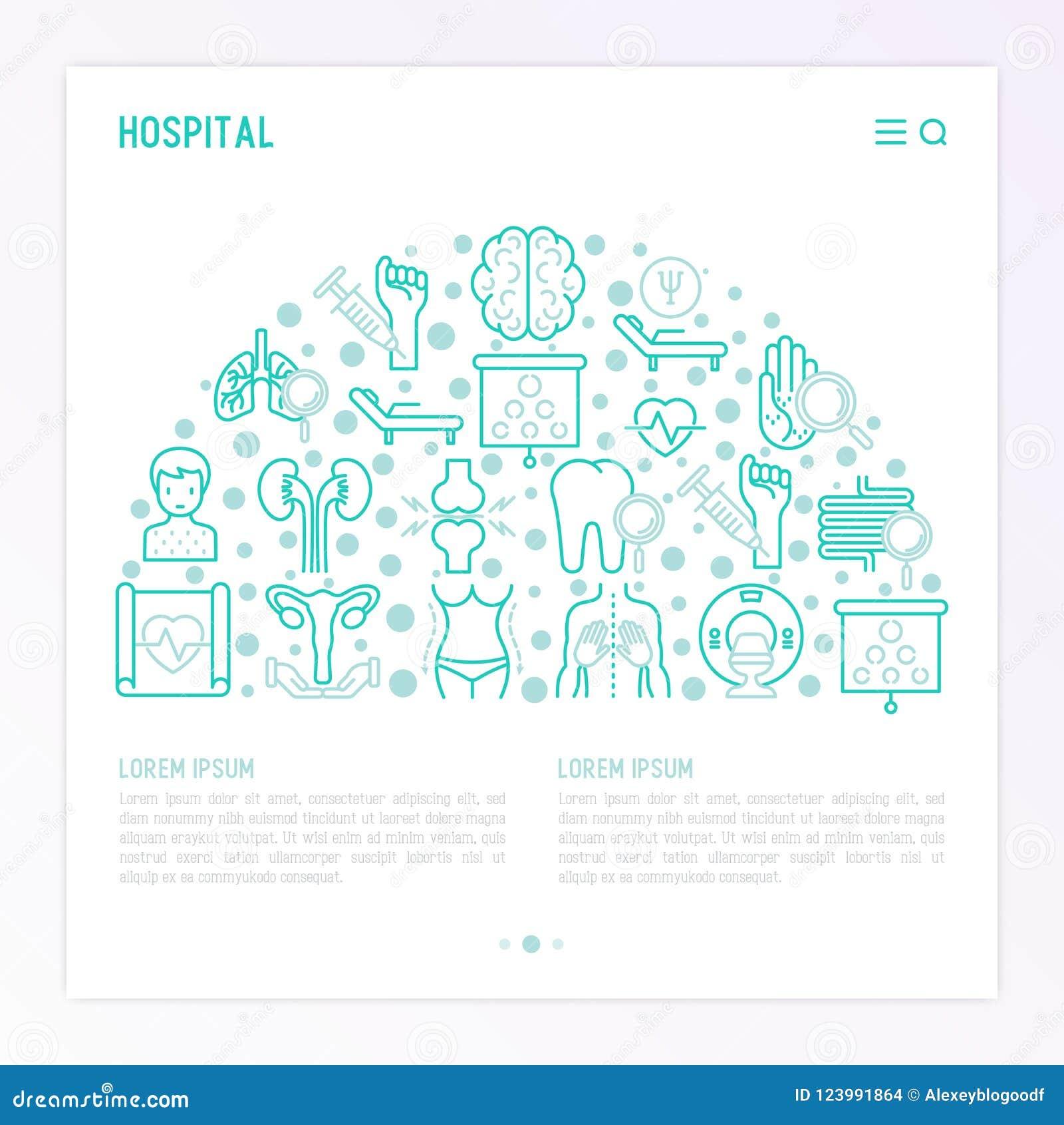 Sjukhusbegrepp i halv cirkel