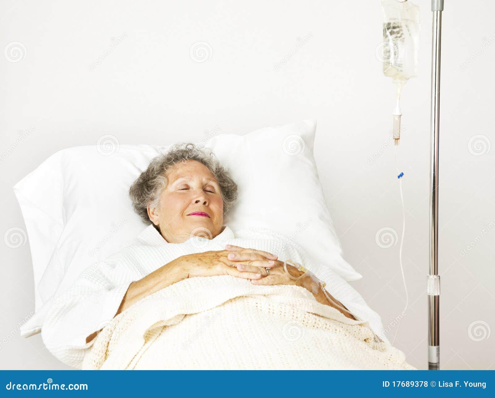 Sjukhuspensionärkvinna