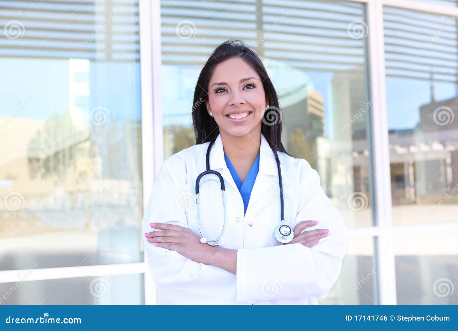 Sjukhussjuksköterskakvinna