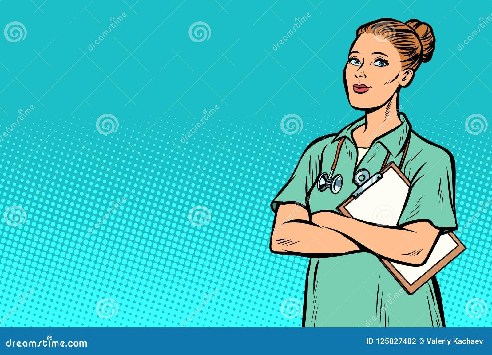 Sjuksköterska för popkonst Medicin och hälsa