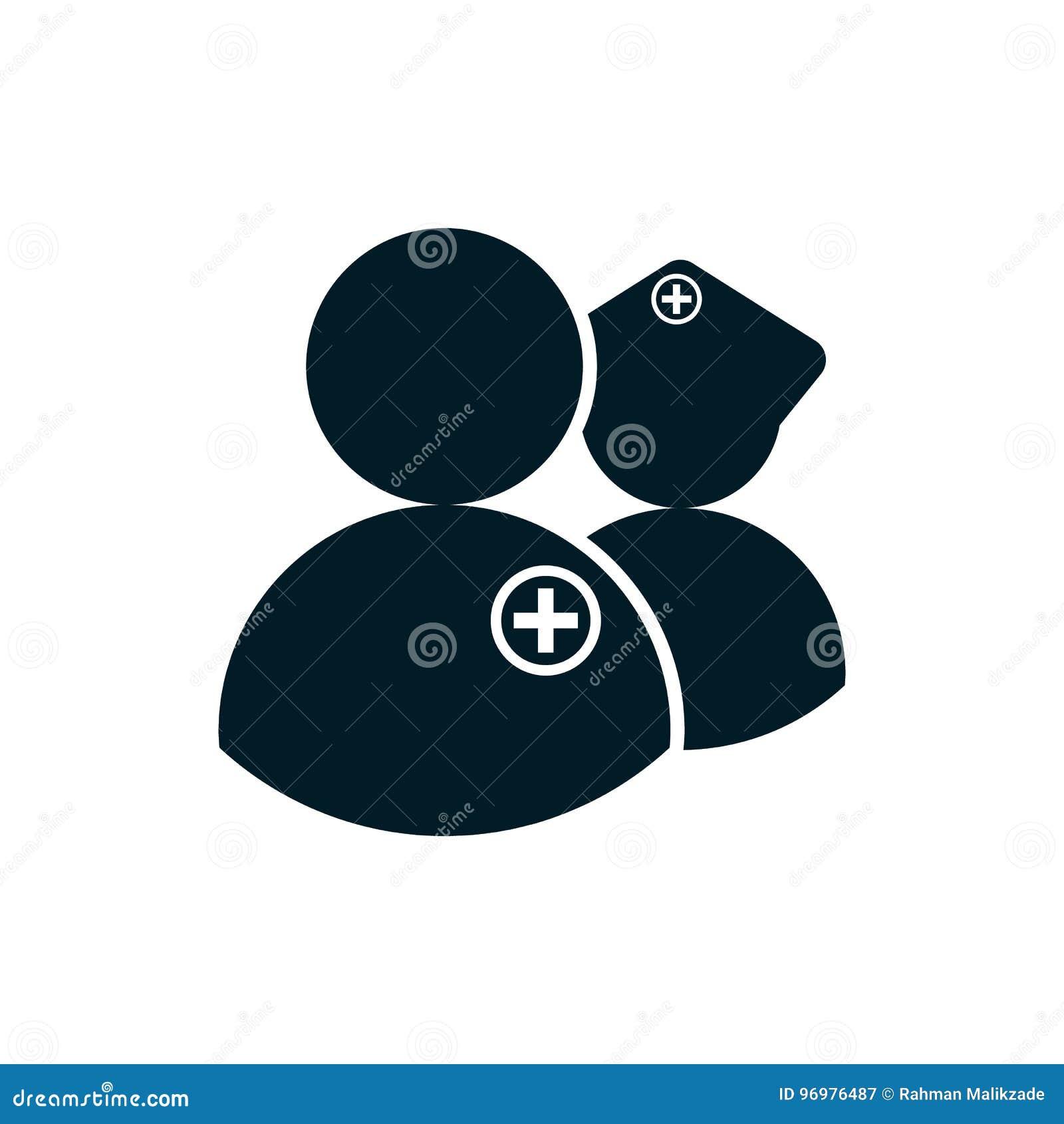 Sjuksköterska- och doktorssymbol