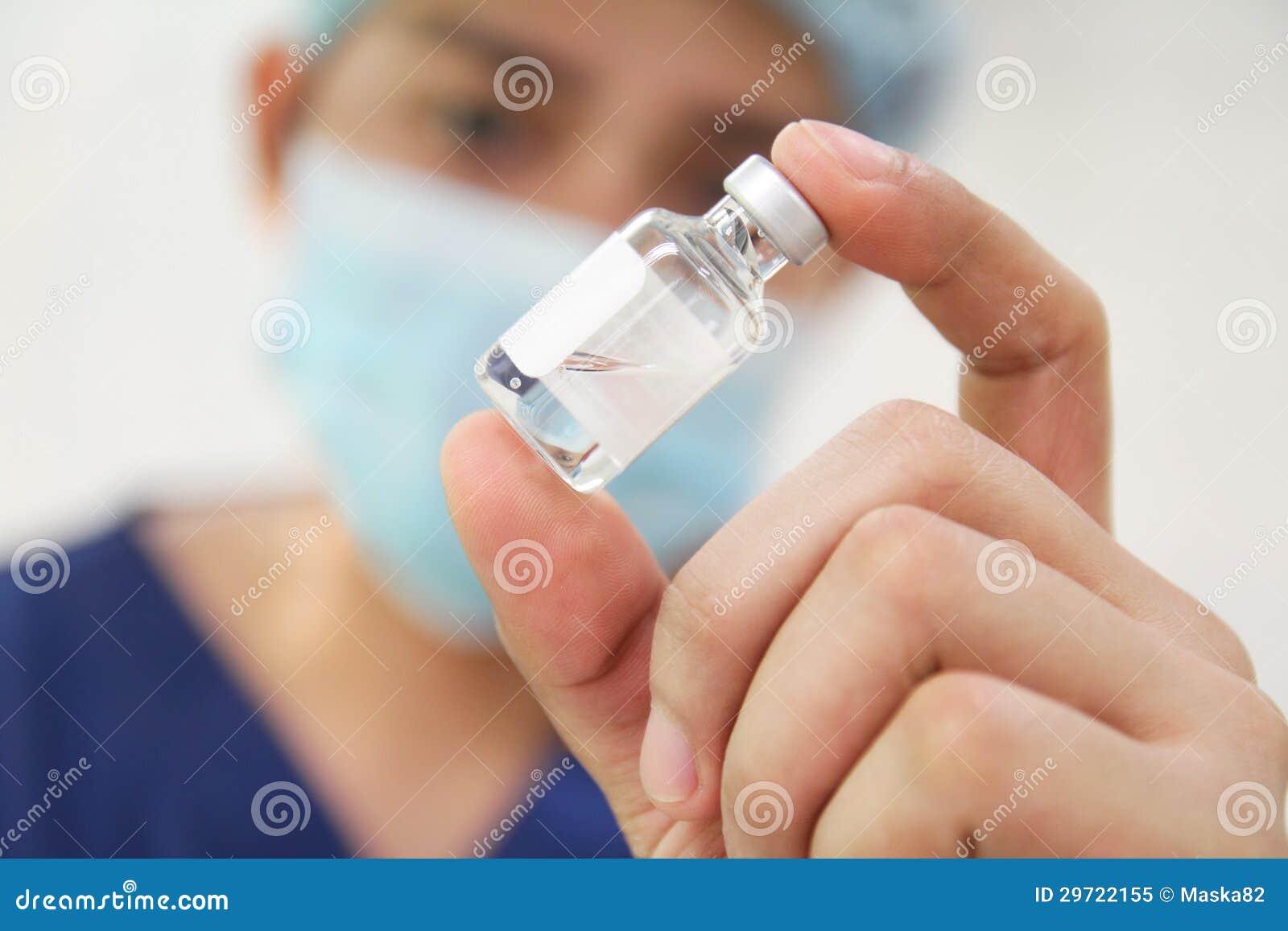 Liten medicinflaska av medicinen